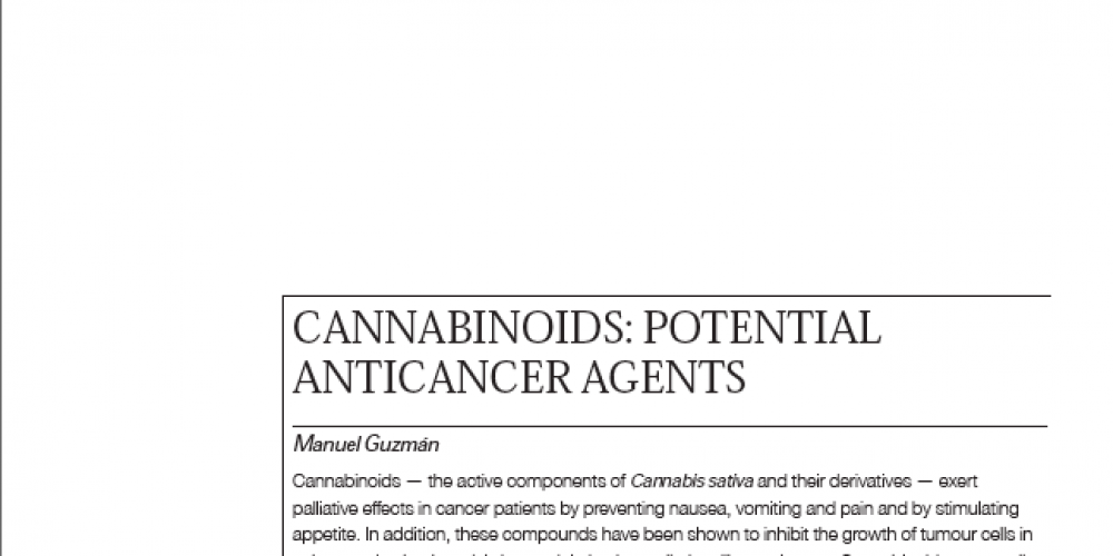 CANNABINOIDS: Potential AntiCancer Agents
